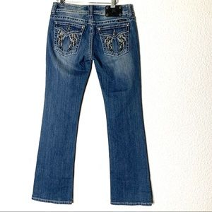 Miss Me Jeans Embellished Wings Size 30x32 Bootcut